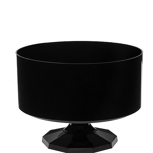 Small Black Plastic Trifle Container Image #1