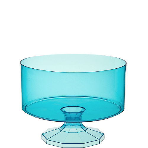 Small Caribbean Blue Plastic Trifle Container Image #1