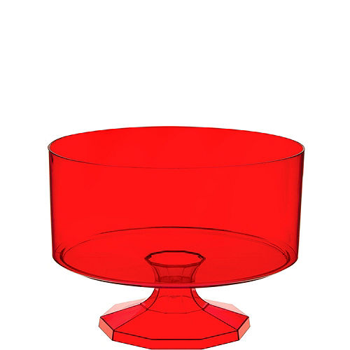Small Red Plastic Trifle Container Image #1