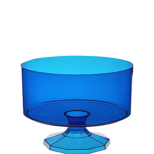 Small Royal Blue Plastic Trifle Container Image #1