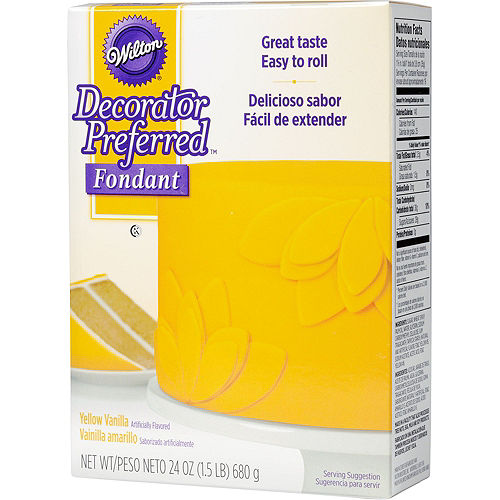 Wilton Yellow Rolled Fondant Image #1