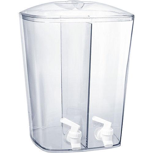 CLEAR Plastic Divided Drink Dispenser Image #1
