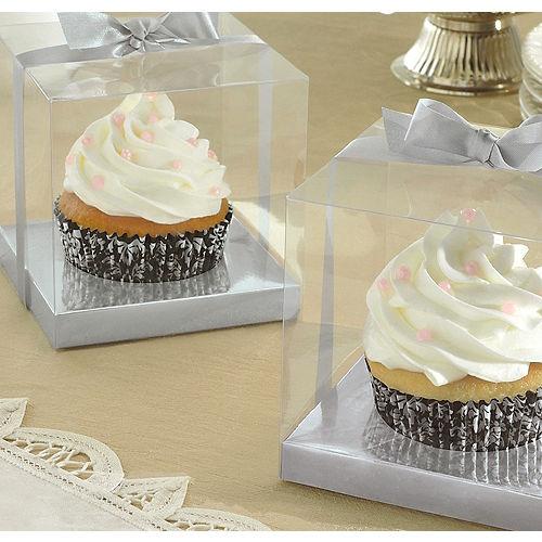 Silver Individual Cupcake Boxes Image #1