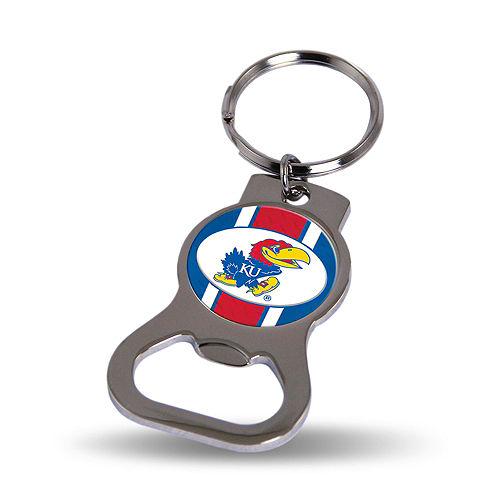 Kansas Jayhawks Bottle Opener Keychain Image #1