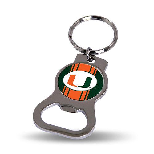 Miami Hurricanes Bottle Opener Keychain Image #1