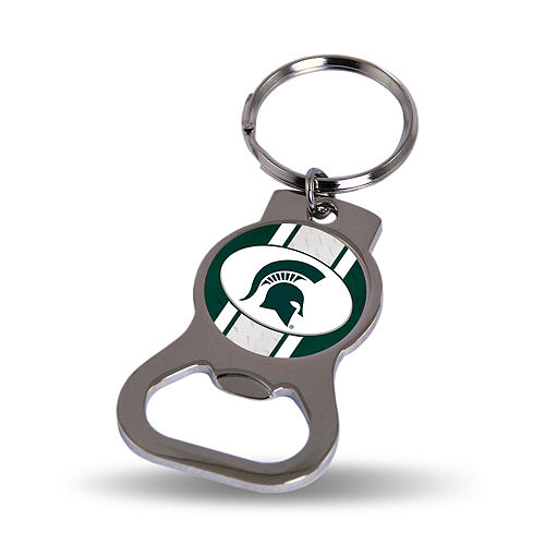 Michigan State Spartans Bottle Opener Keychain Image #1