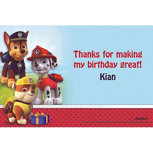 Custom Paw Patrol Thank You Notes Image #1