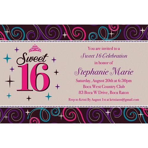 Custom Sweet 16 Celebration Invitations Image #1
