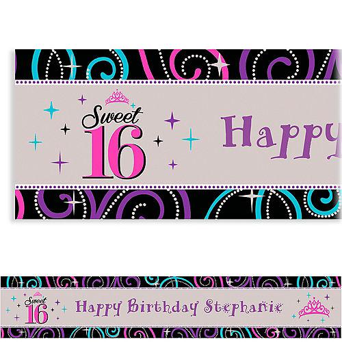 Custom Sweet 16 Celebration Banner 6ft Image #1