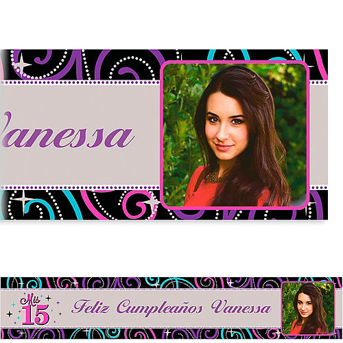 Custom Mis Quince Anos Photo Banner 6ft Image #1