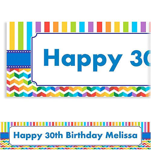 Custom Birthday Bright Banner 6ft Image #1