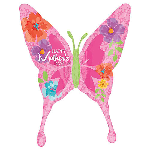 Giant Mother's Day Butterfly Balloon, 37in Image #1