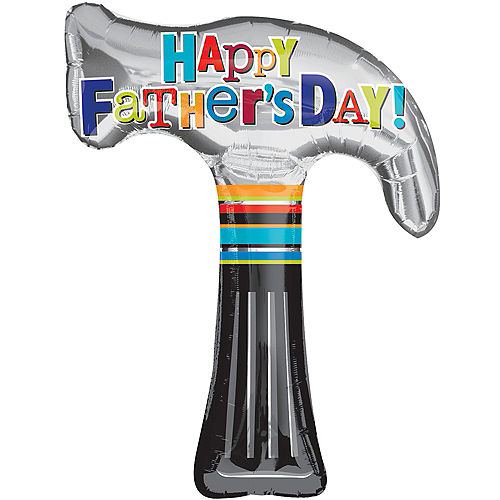 Father's Day Balloon - Hammer, 35in Image #1