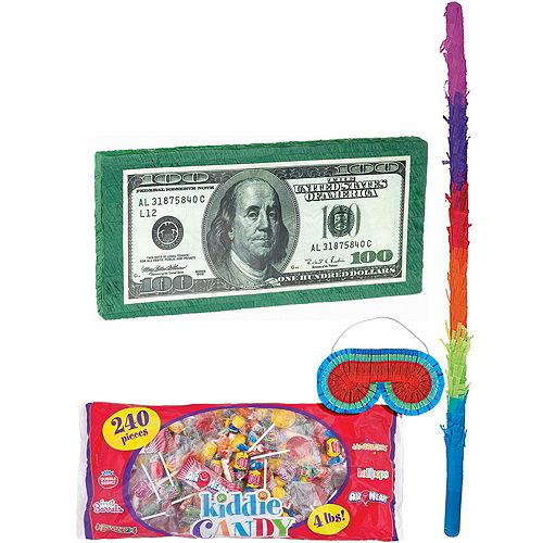 One Hundred Dollar Bill Pinata Kit Image #1