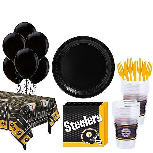 Super Pittsburgh Steelers Party Kit for 18 Guests Image #1