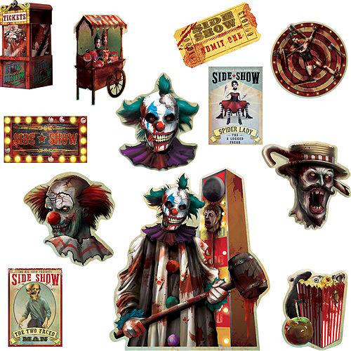 Side Show Cutouts 12ct - Creepy Carnival Image #1