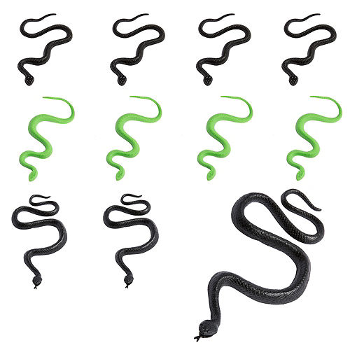 Green & Black Snakes 28ct Image #1
