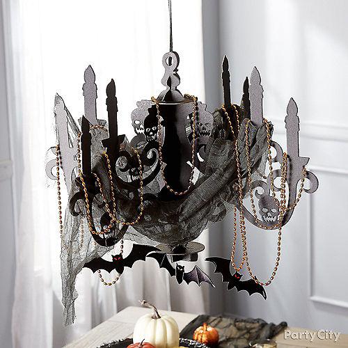 Black Paper Candelabra - Haunted House Image #4