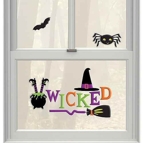 Wicked Witch Gel Cling Decals 12ct - Witch's Crew Image #1