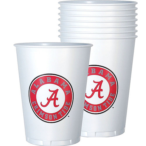 Alabama Crimson Tide Plastic Cups 8ct Image #1