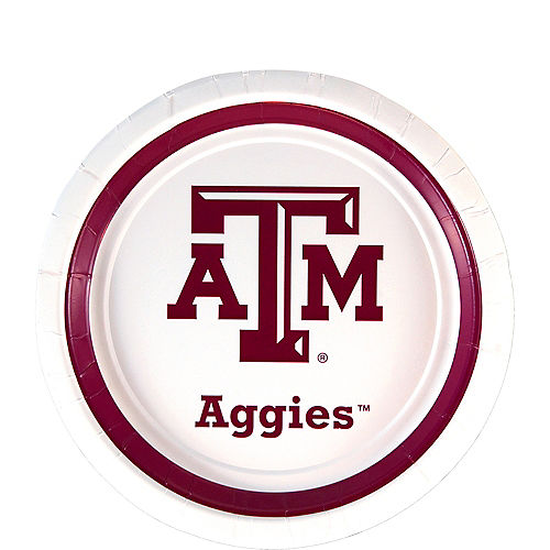 Texas A&M Aggies Dessert Plates 12ct Image #1