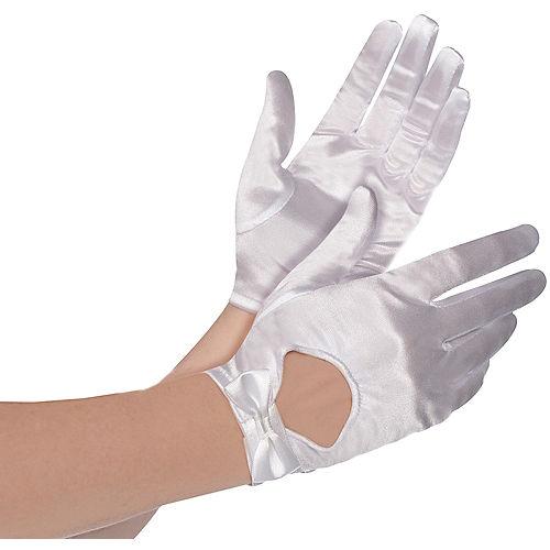 White Bow Gloves Image #1