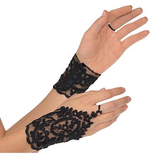 Black Lace Glovelettes Image #1