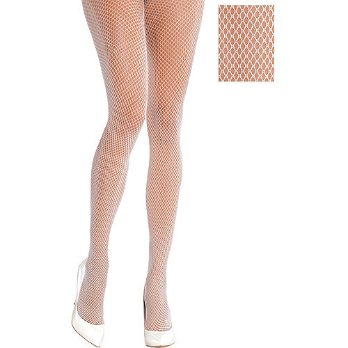 White Fishnet Stockings Image #1