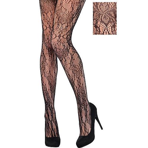 Black Baroque Lace Stockings Image #1