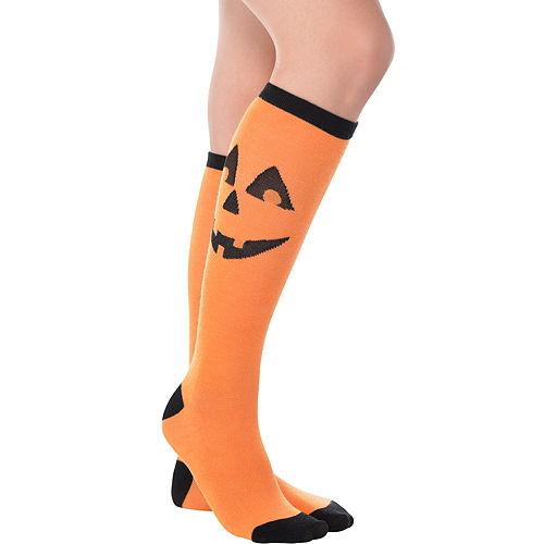 Jack-o'-Lantern Knee-High Socks Image #1