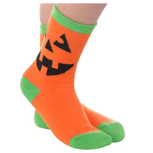Child Jack-o'-Lantern Crew Socks Image #1