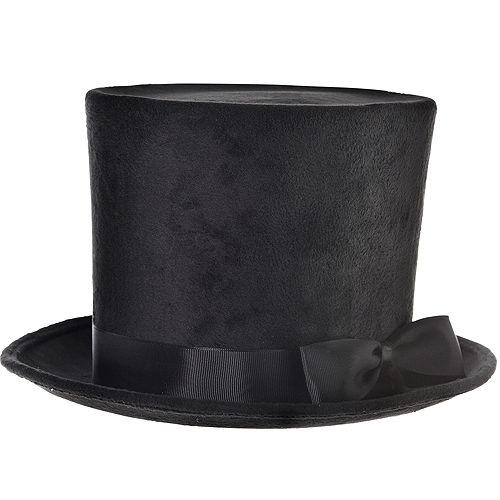 Victorian Black Top Hat Deluxe Image #1