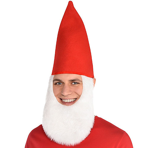 Red Gnome Hat with Beard Image #2