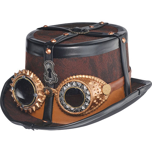 Steampunk Top Hat Deluxe Image #1
