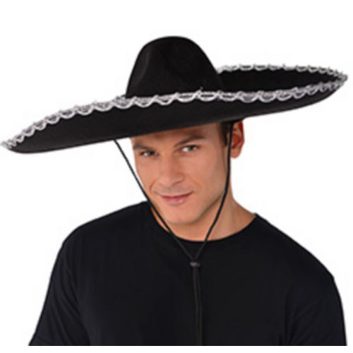 Silver Trim Black Sombrero Image #2