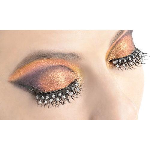 Self-Adhesive Rhinestone False Eyelashes Image #1