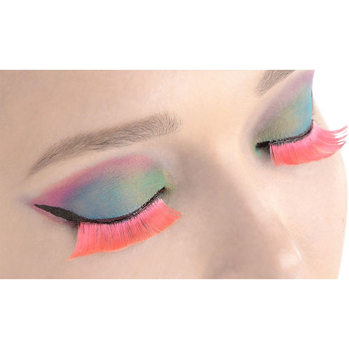 Self-Adhesive Hot Pink False Eyelashes Image #1
