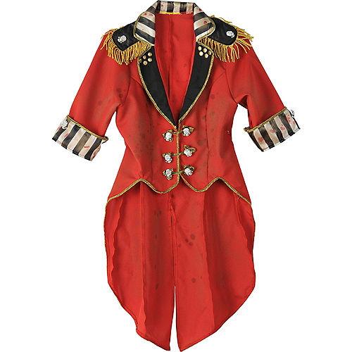 Womens Vintage Cropped Red Ringmaster Jacket - Freak Show Image #3