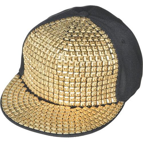 Gold Studded Hip Hop Hat Image #1