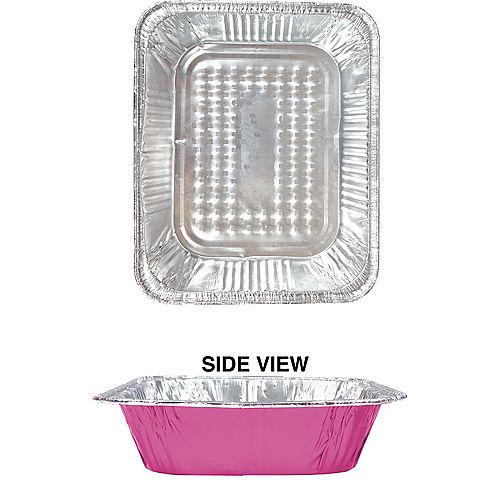 Bright Pink Aluminum Half Chafing Dish Steam Pan Image #1