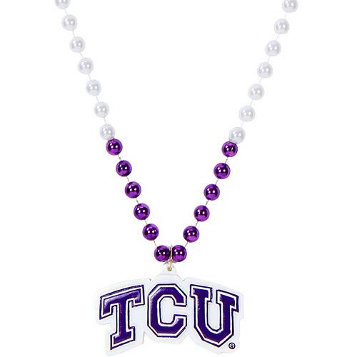 TCU Horned Frogs Pendant Bead Necklace Image #1