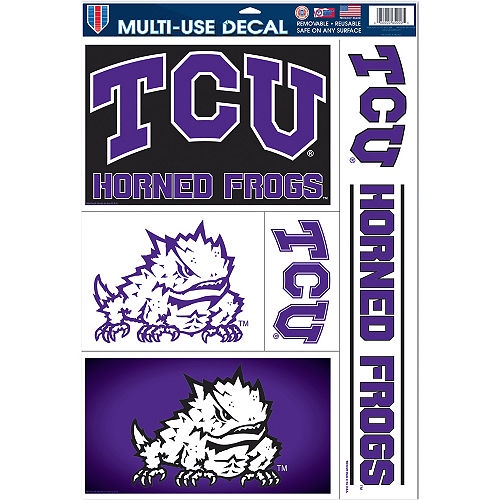 TCU Horned Frogs Decals 5ct Image #1