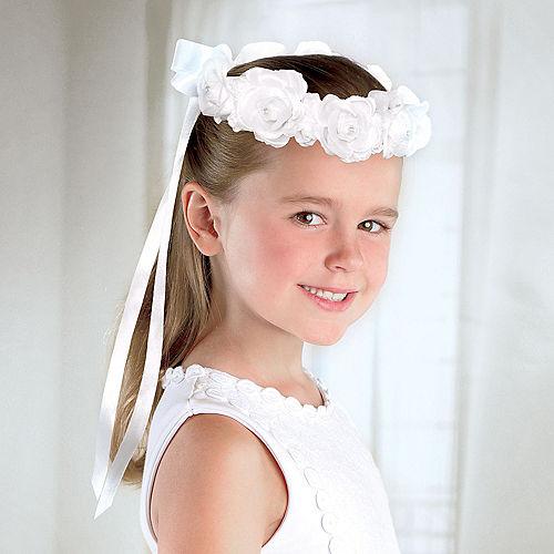 Child White Rose Headwreath Image #1