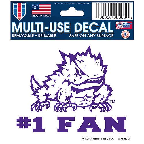 TCU Horned Frogs #1 Fan Decal Image #1