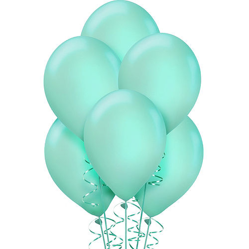 Robin's Egg Blue Balloons 72ct, 12in Image #1