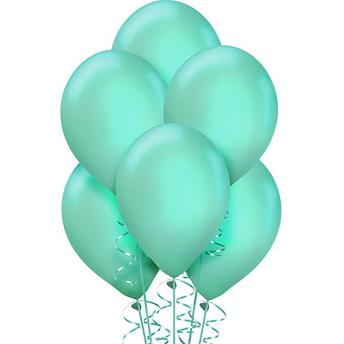 Robin's Egg Blue Pearl Balloons 72ct, 12in Image #1