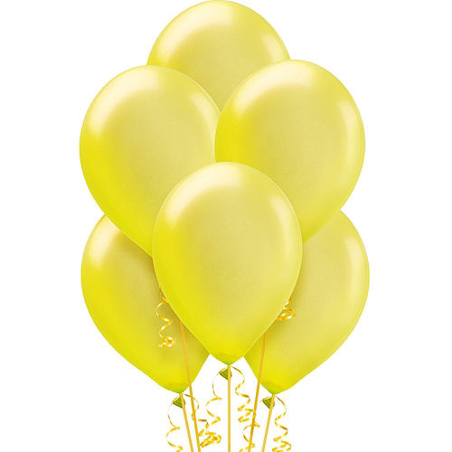 Yellow Pearl Balloons 72ct, 12in Image #1
