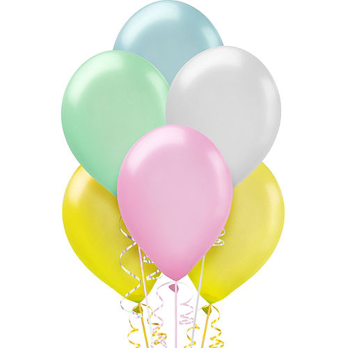 Assorted Pastel Pearl Balloons 15ct, 12in Image #1