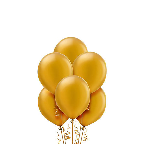 Gold Pearl Balloons 20ct, 9in Image #1