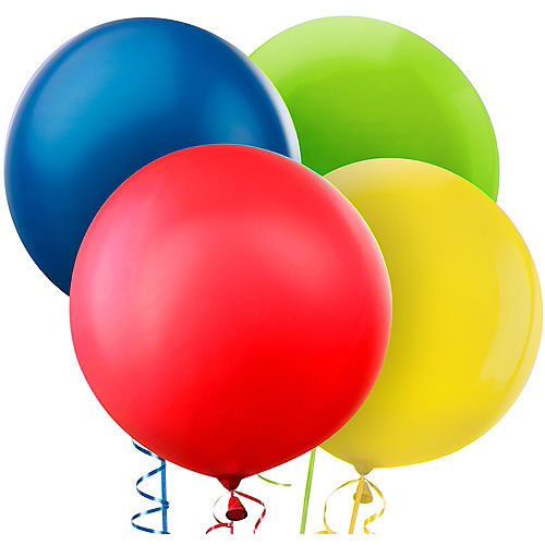 Assorted Color Balloons 4ct Party City